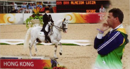 Johan and Luiza at the Olympic Games 2008